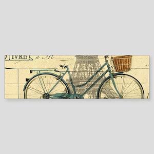 eiffel tower paris bike Bumper Sticker