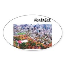 Montreal City Signature upper Oval Sticker