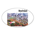 Montreal City Signature upper Oval Sticker
