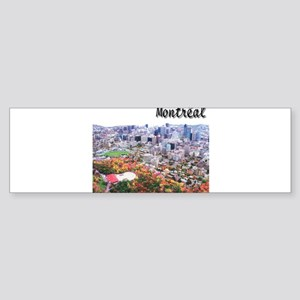 Montreal City Signature upper Bumper Sticker