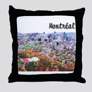 Montreal City Signature upper Throw Pillow