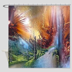 Fantasy Painting Landscape Mystical Shower Curtain