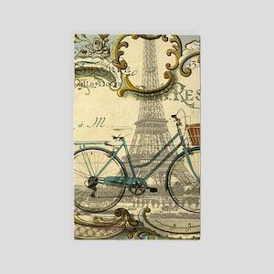 eiffel tower paris bike Area Rug