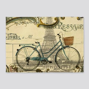 eiffel tower paris bike 5'x7'Area Rug