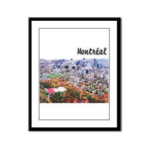 Montreal City Signature upper Framed Panel Print