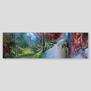 Fantasy Painting Landscape Mystical Bumper Sticker