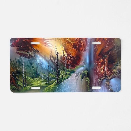Fantasy Painting Landscape Aluminum License Plate