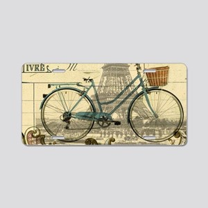 eiffel tower paris bike Aluminum License Plate