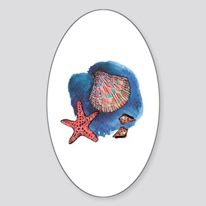 Seashells Sticker (Oval)