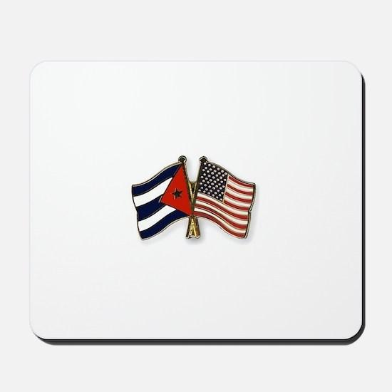 Cuban flag and the U.S. flag Mousepad