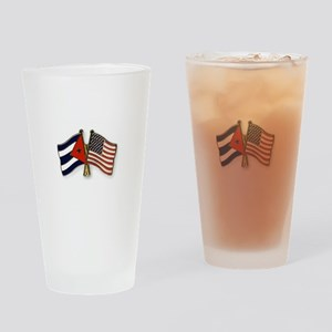 Cuban flag and the U.S. flag Drinking Glass