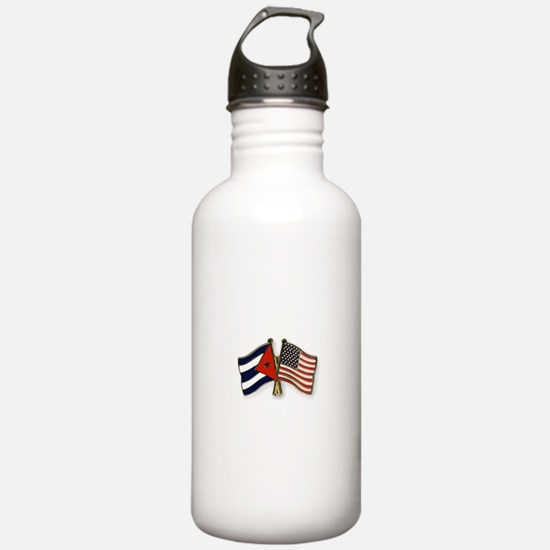 Cuban flag and the U.S Water Bottle