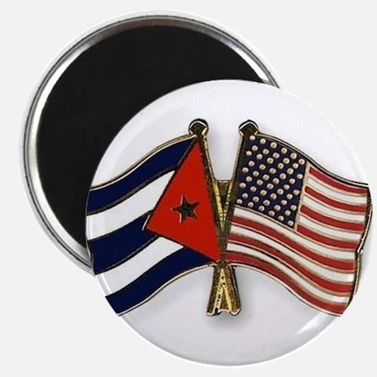 Cuban flag and the U.S. flag Magnets