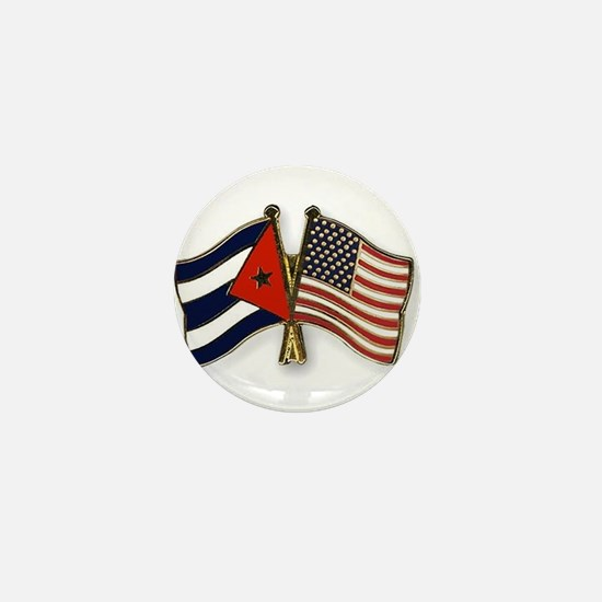 Cuban flag and the U.S. flag Mini Button