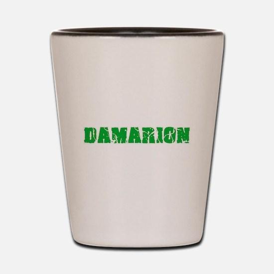 Damarion Name Weathered Green Design Shot Glass
