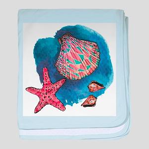 Seashells baby blanket