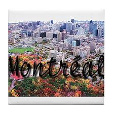 Montreal City Signature cente Tile Coaster