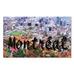 Montreal City Signature cente Sticker (Rectangular