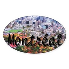 Montreal City Signature cente Oval Sticker