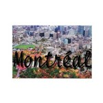 Montreal City Signature cente Rectangle Magnet (10