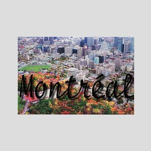 Montreal City Signature cente Rectangle Magnet