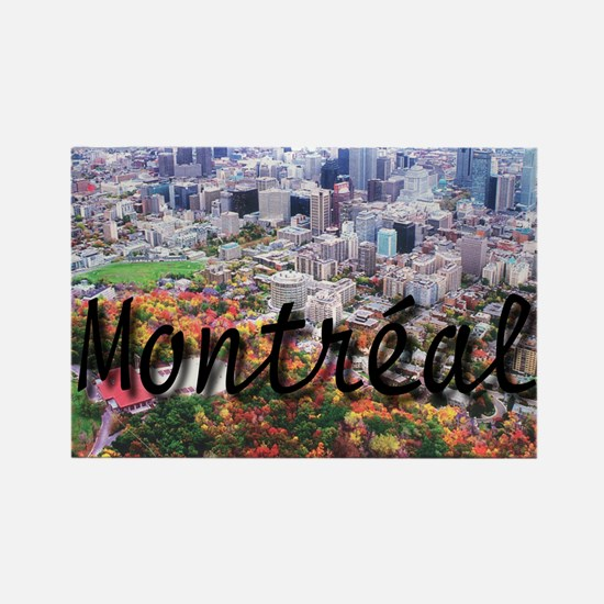 Montreal City Signature cente Rectangle Magnet