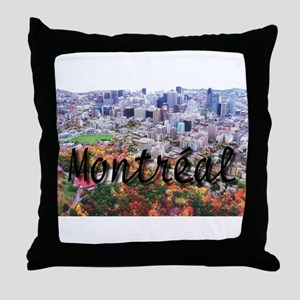 Montreal City Signature cente Throw Pillow