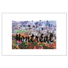Montreal City Signature cente Large Poster