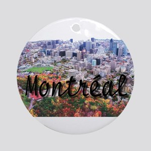 Montreal City Signature cente Ornament (Round)