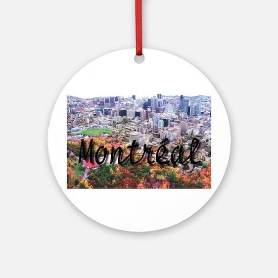 Montreal City Signature cente Ornament (Round)