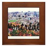 Montreal City Signature cente Framed Tile