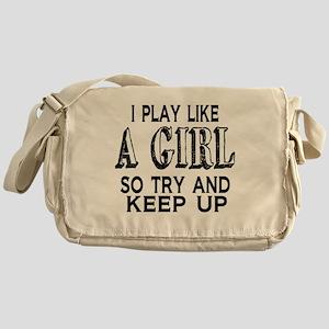 Play Like a Girl Messenger Bag