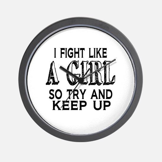 Fight Like a Girl Wall Clock