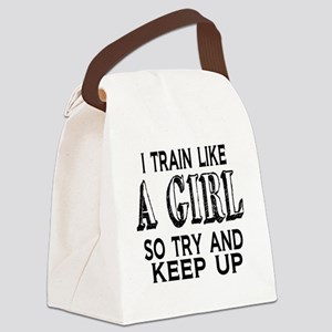 Train like a girl Canvas Lunch Bag