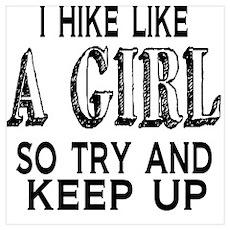 Hike Like a Girl Poster
