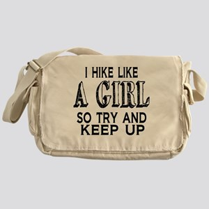 Hike Like a Girl Messenger Bag