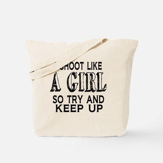 Shoot Like a Girl Tote Bag