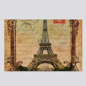 vintage paris eiffel towe Postcards (Package of 8)