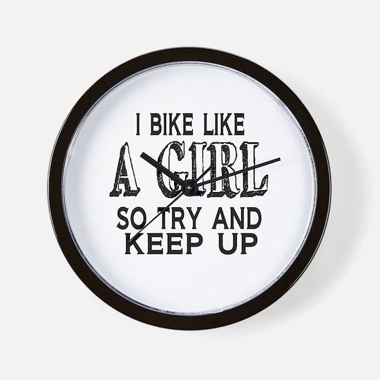 Bike Like a Girl Wall Clock