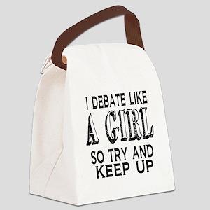 Debate Like a Girl Canvas Lunch Bag