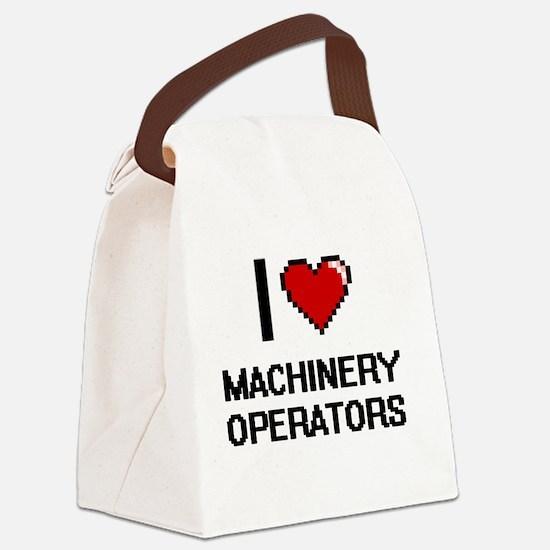 I Love Machinery Operators Canvas Lunch Bag