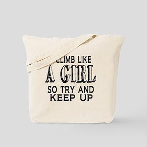 Climb Like a Girl Tote Bag