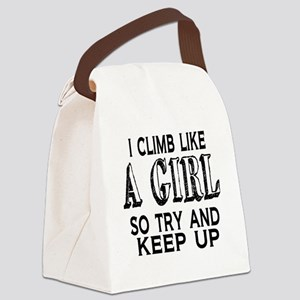 Climb Like a Girl Canvas Lunch Bag