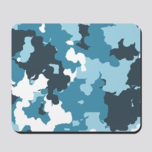 Blue Camo Mousepad