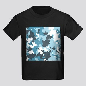 Blue Camo Kids Dark T-Shirt