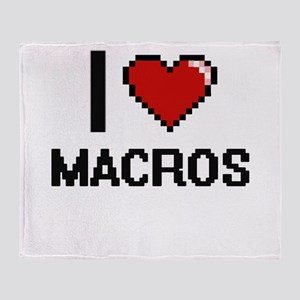 I Love Macros Throw Blanket