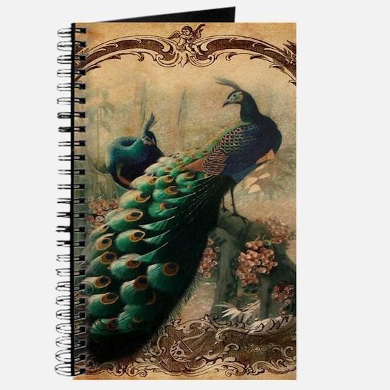 romantic paris vintage peacock Journal