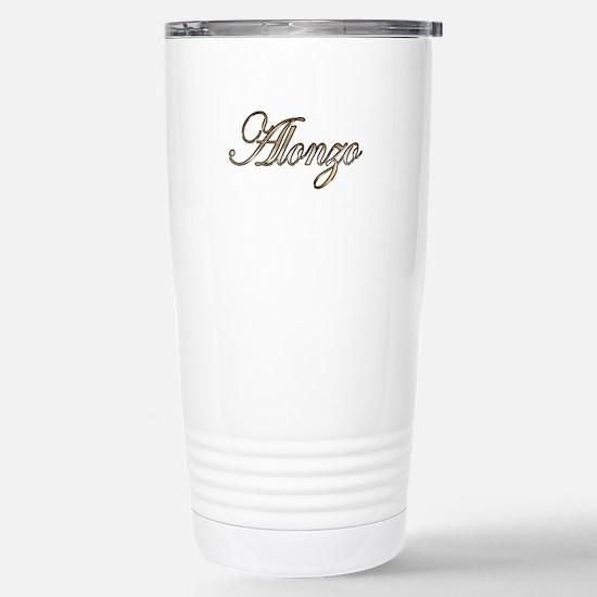 Gold Alonzo Stainless Steel Travel Mug