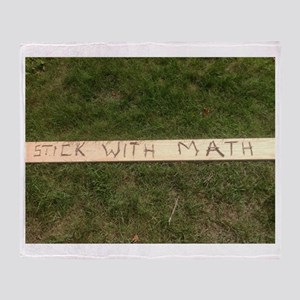 Stick With Math Throw Blanket