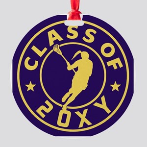 Class of 20?? Girl Lacrosse Round Ornament